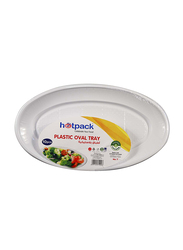 Hotpack No.7 10-Piece Plastic Oval Tray Set, POTP20, White