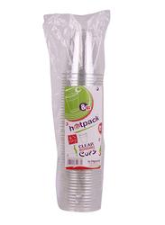 Hotpack 8oz 50-Piece Plastic Disposable Cup Set, CG8PET, Clear