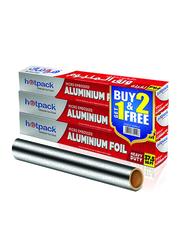 Hotpack Embossed Aluminum Foil, 3 Pieces, 45 cm X 37.5 sq.ft.