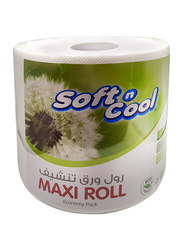 Soft N Cool Kitchen Maxi Roll Economy Pack Roll, 6 Rolls x 1Ply x 300 Meters
