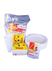 Hotpack Dinnerware Combo Pack, CP1X4RFP10B, White