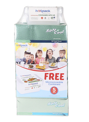 Soft N Cool Soft Facial Tissue, 5 Boxes x 150 Sheets x 2 Ply, with 5 Pieces 750ml Microwave Container