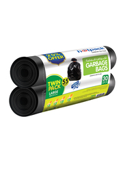 Hotpack Roll Garbage Bag Twin Pack, Large, 30 Bags x 55 Gallons