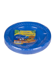 Hotpack 7-inch 25-Piece Colored Plastic Round Plate Set, CPP7, Multicolor