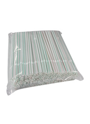 Hotpack 250-Piece 6mm Plastic Flexible Straw, STRAW250, Multicolor