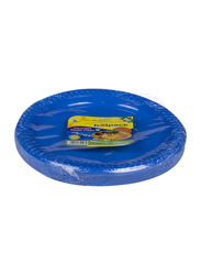 Hotpack 10-inch 25-Piece Colored Plastic Round Plate Set, CPP10, Multicolor