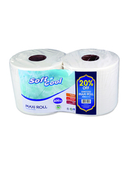 Soft N Cool Embossed Maxi Roll, 2 Rolls x 300m x 1 Ply