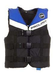 Prolimit Nylon 3-Buckle Vest, Double Extra Small, Blue/Black/White