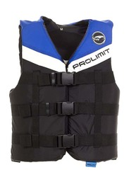 Prolimit Nylon 3-Buckle Vest, Double Extra Large, Blue/Black/White