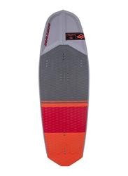 Naish 2019 Hover 130 Kitesurfing Board with M6 18mm Screws, 130cm, Grey/Red/Orange