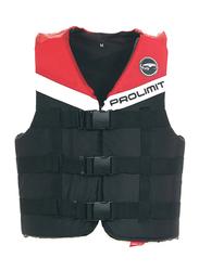 Prolimit Nylon 3-Buckle Vest, Large, Red/Black/White