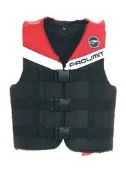 Prolimit Nylon 3-Buckle Vest, Extra Small, Red/Black/White