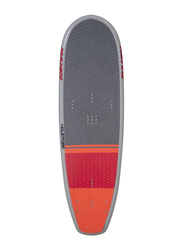 Naish 2019 Hover 160 Kitesurfing Board with M6 18mm Screws, 160cm, Grey/Red/Orange