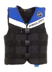 Prolimit Nylon 3-Buckle Vest, Large, Blue/Black/White