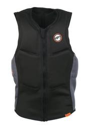Prolimit Slider Half Padded Front Zip Vest, Small, Black/Orange