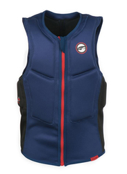 Prolimit Slider Half Padded Front Zip Vest, Extra Small, Blue/Red
