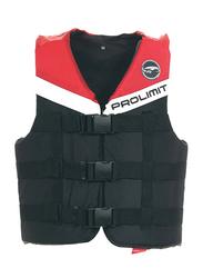 Prolimit Nylon 3-Buckle Vest, Medium, Red/Black/White
