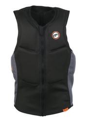 Prolimit Slider Half Padded Front Zip Vest, Large, Black/Orange