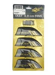 Naish 2017 IXEF 4cm Kiteboard Fin Set, 4 Pieces, Black