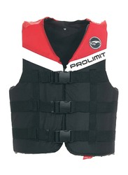 Prolimit Nylon 3-Buckle Vest, Double Extra Small, Red/Black/White