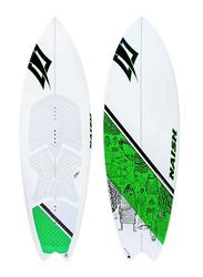 Naish Fish 2014 Directional Kitesurfing Board, 5.6 Inch, White/Green
