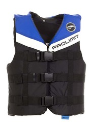 Prolimit Nylon 3-Buckle Vest, Small, Blue/Black/White