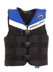 Prolimit Nylon 3-Buckle Vest, Medium, Blue/Black/White