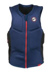 Prolimit Slider Half Padded Front Zip Vest, Large, Blue/Red