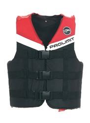 Prolimit Nylon 3-Buckle Vest, Double Extra Large, Red/Black/White
