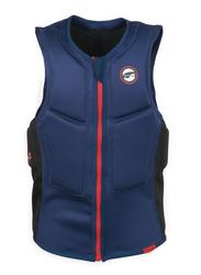Prolimit Slider Half Padded Front Zip Vest, Medium, Blue/Red