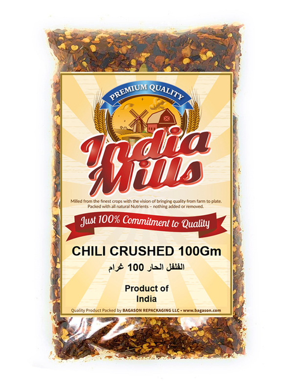 India Mills Chili Crushed, 100g