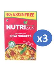 Nutrizain Soya Chunks, 3 Pieces x 240g