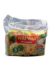Wai Wai Veg Masala Curry Noddles, 5 Pieces x 75g