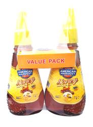 American Harvest Natural Honey, 2 Bottles x 400g