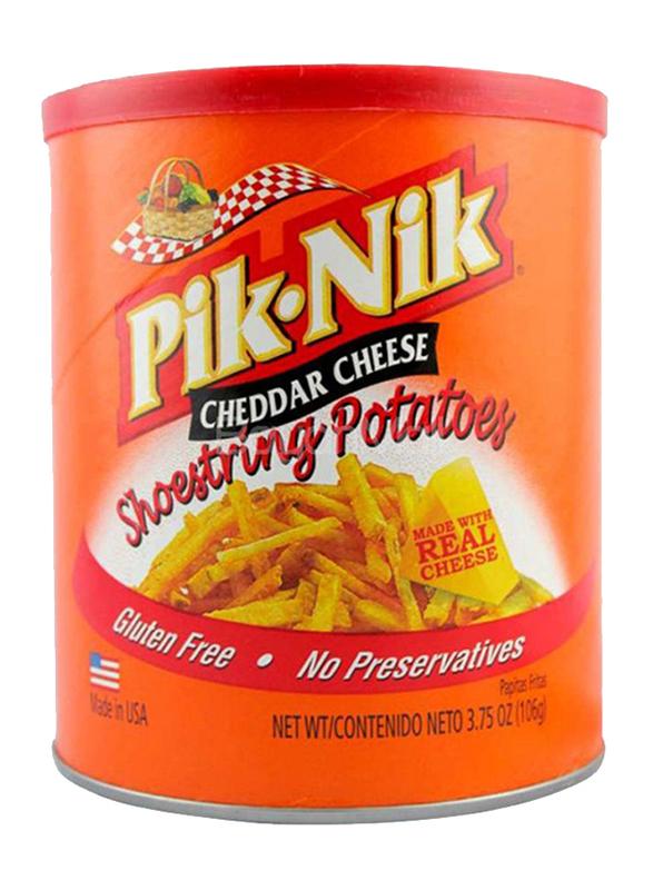 Pik-Nik Cheddar Cheese Shoestrings Potato Fries, 106gm
