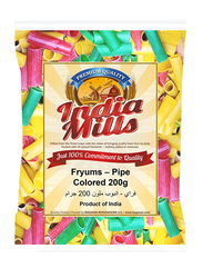 India Mills Fryums Colored Pipe Long, 200g