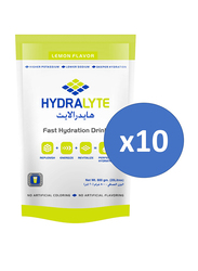 Hydrolyte Lemon Flavor Electrolyte Powder Hydration Sports Drink Mix, 10 Pieces x 800g