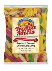 India Mills Fryums Colored Chokdi Long, 200g