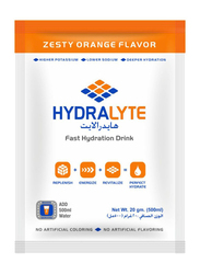 Hydralyte Electrolyte Powder Orange Flavour, 20 Packets x 20g