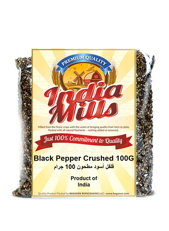 India Mills Black Pepper Crushed, 100g