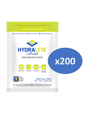 Hydrolyte Lemon Flavor Electrolyte Powder Hydration Drink Mix, 200 Sachets x 20g