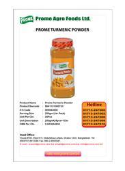 Prome Turmeric Powder, 250g