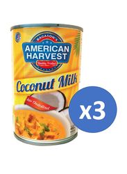 American Harvest Coconut Milk, 3 Cans x 400ml