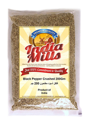 India Mills Black Pepper Crushed, 200g