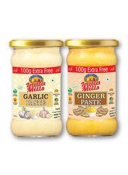 India Mills Ginger Paste Jar with Garlic Paste Jar, 2 Jar x 400g
