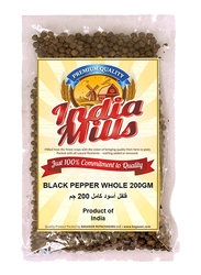 India Mills Black Pepper Whole, 200g