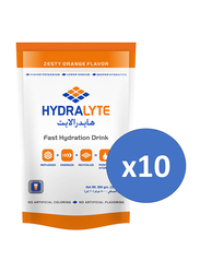 Hydrolyte Zesty Orange Electrolyte Powder Hydration Sports Drink Mix, 10 Pieces x 800g