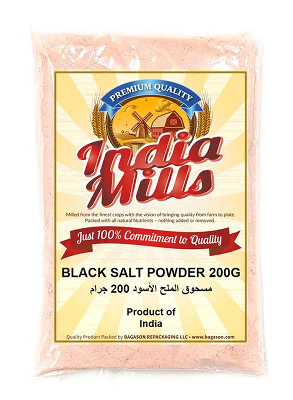 India Mills Black Salt Powder, 200g