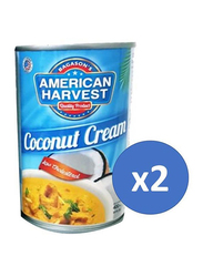 American Harvest Coconut Cream, 2 Cans x 400ml
