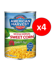 American Harvest Whole Kernel Sweet Corn, 4 Cans x 425g
